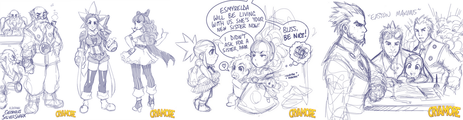 Cryamore Concept Sketchdump by Robaato