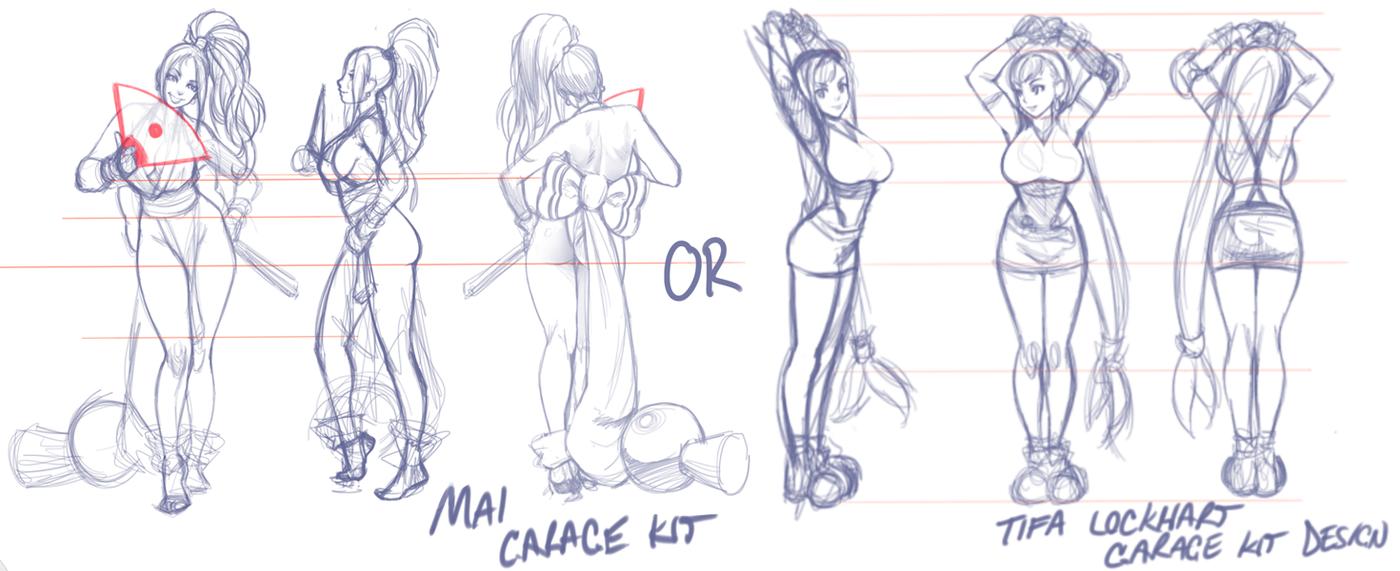 Garage Kit: Mai-or-Tifa? by Robaato