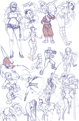 A compilation of random sketches that I never...