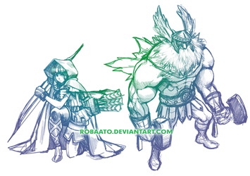 Elves and Dwarves, OH MY by Robaato