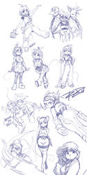 Another Rat Rage Sketchdump by Robaato