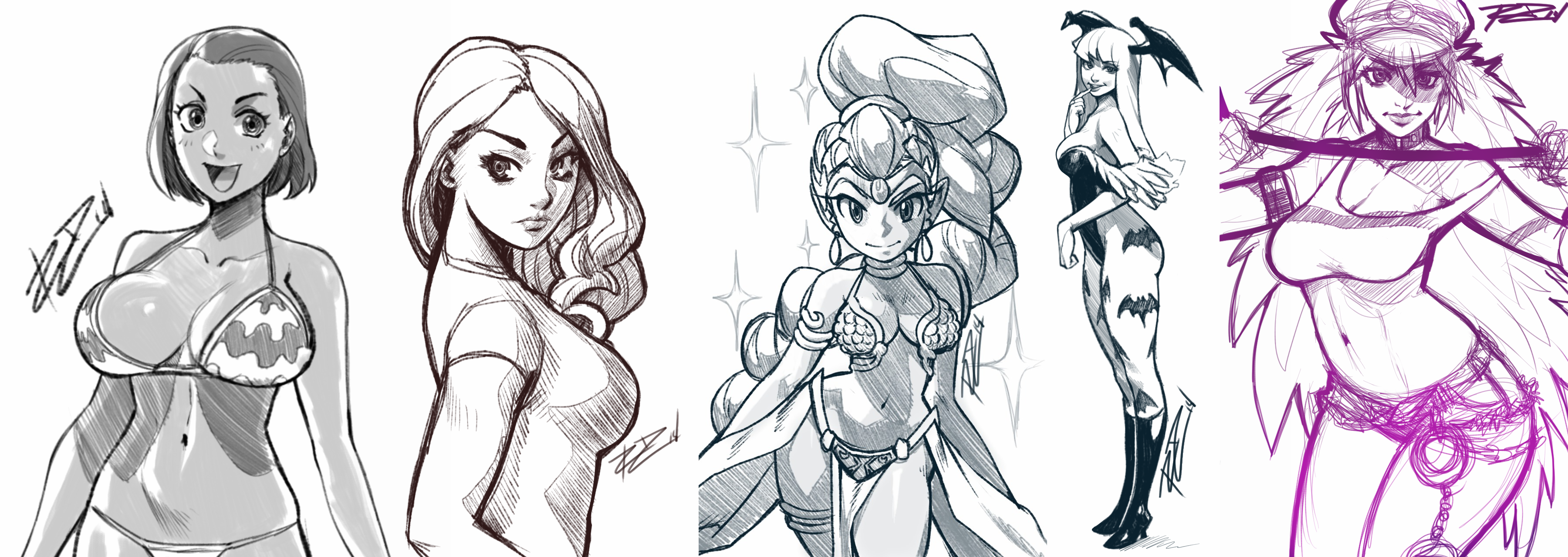 Some Galaxy Note Sketchees by Robaato