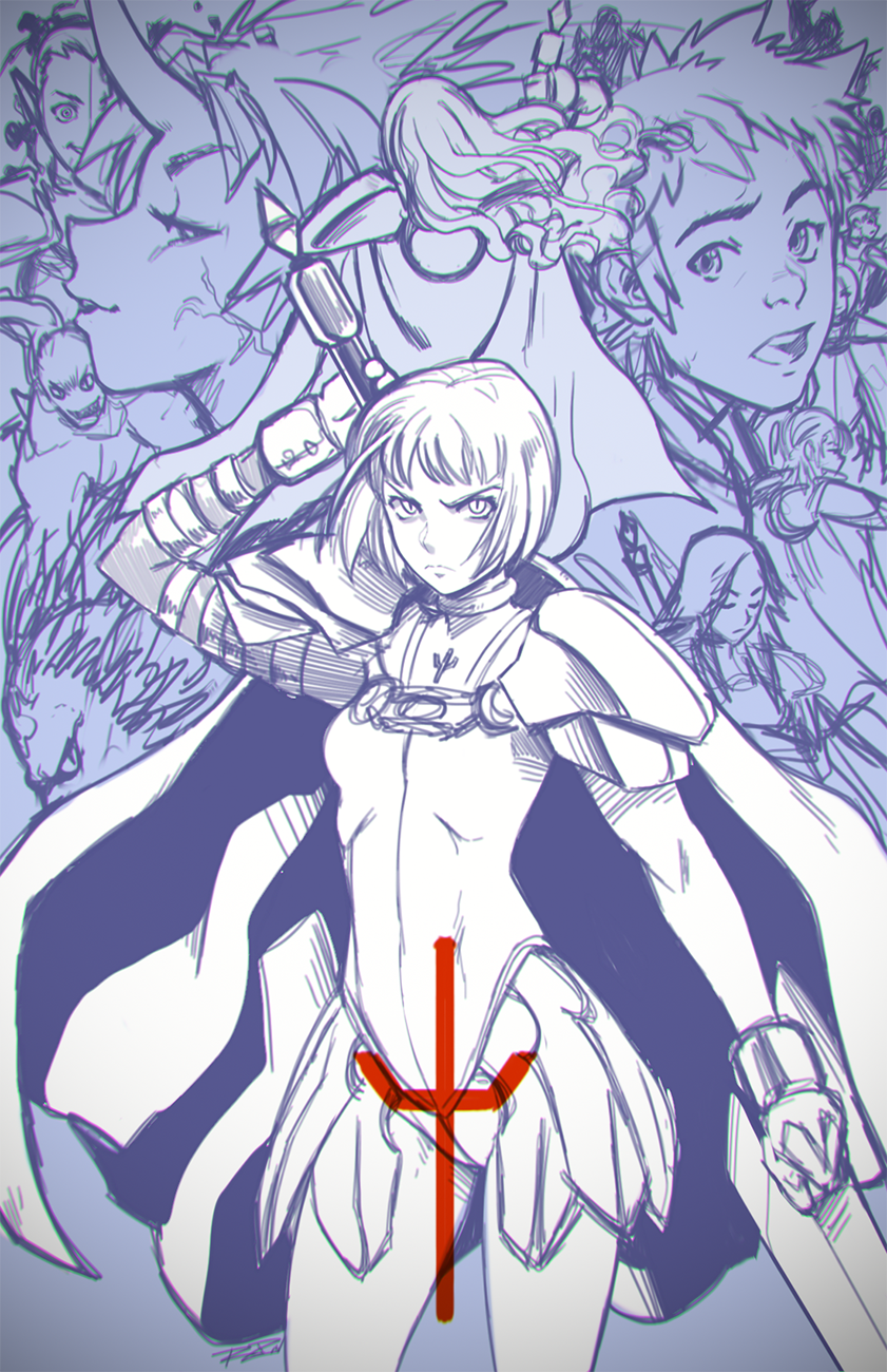 Claymore - WIP1 by Robaato