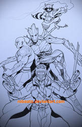 Galaxy Guardians -Lines- by Robaato