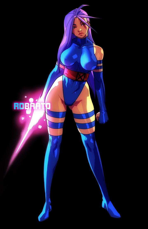 Classic Psylocke by Robaato