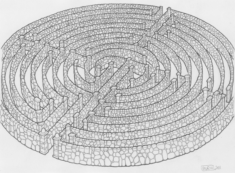 Maze Drawing by mleiv
