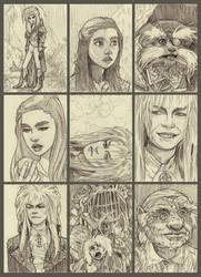 Labyrinth ATC Sketches