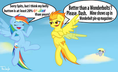 Comepetitive Pegasi meet Belly Buttons by TraLaLayla