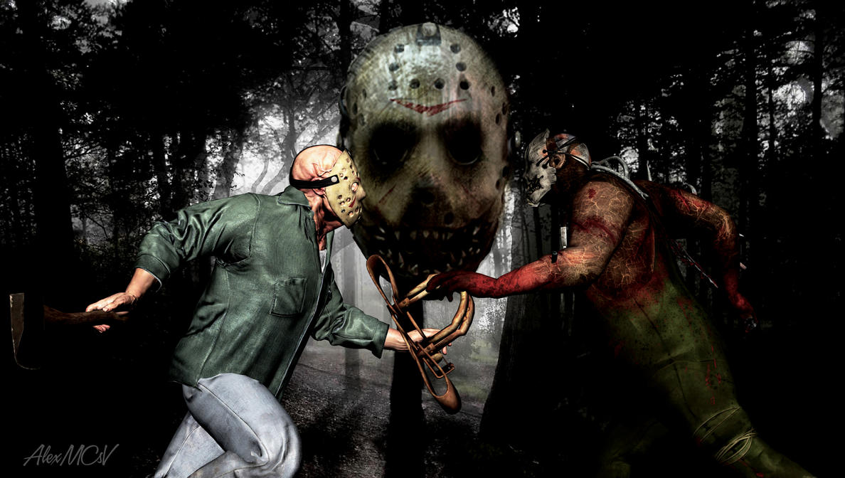 JASON VOORHEES VS THE TRAPPER by AlexMCsV on DeviantArt H20 Delirious Face