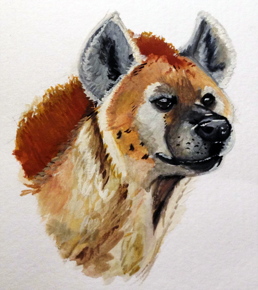 Gouache Hyena by LousterDaRooster