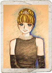 Annie as Holly Golightly by lovesonnetxvii