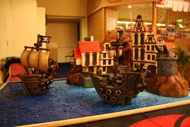 Pirate Ship Display by Deadeyedamo