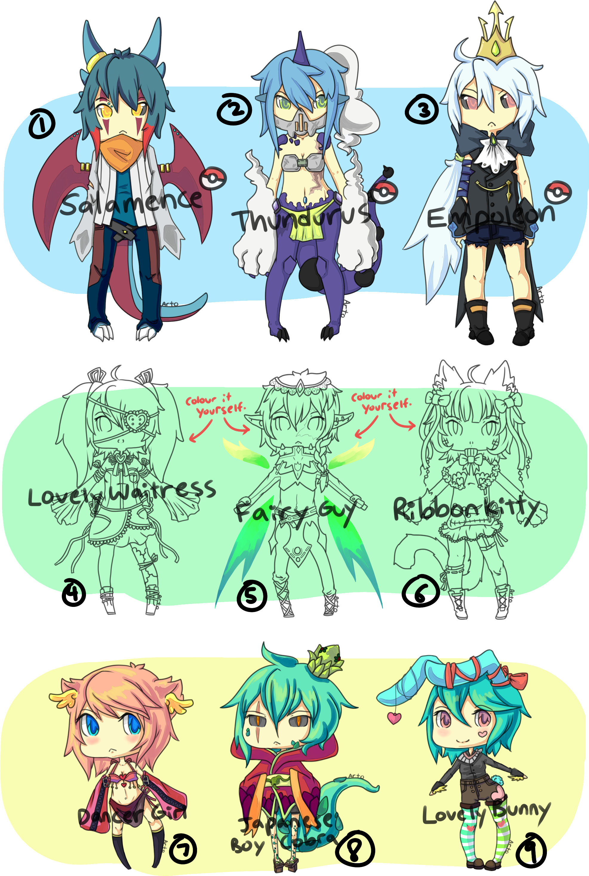 Adopts ---- Open [ Left no.7] by Itadakii