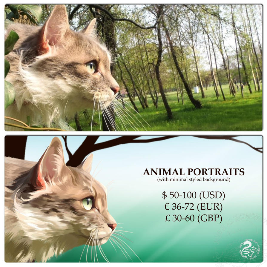 Animal Portrait Commissions by Nojjesz