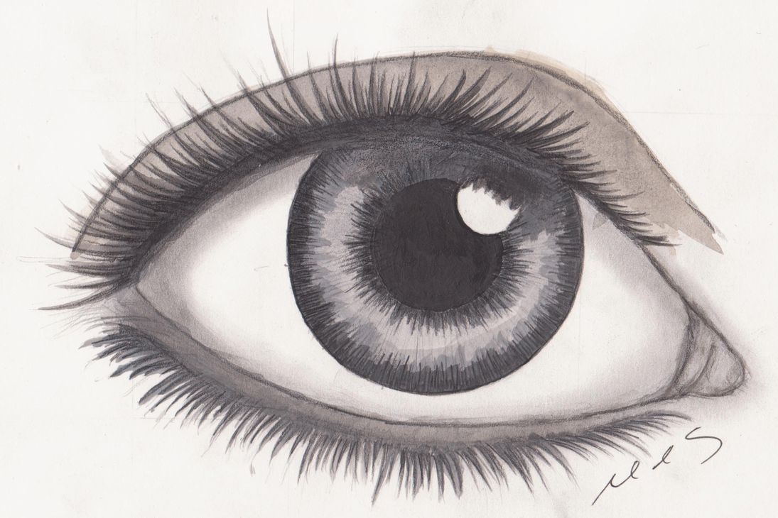 Realistic Eye Drawing by mhylands