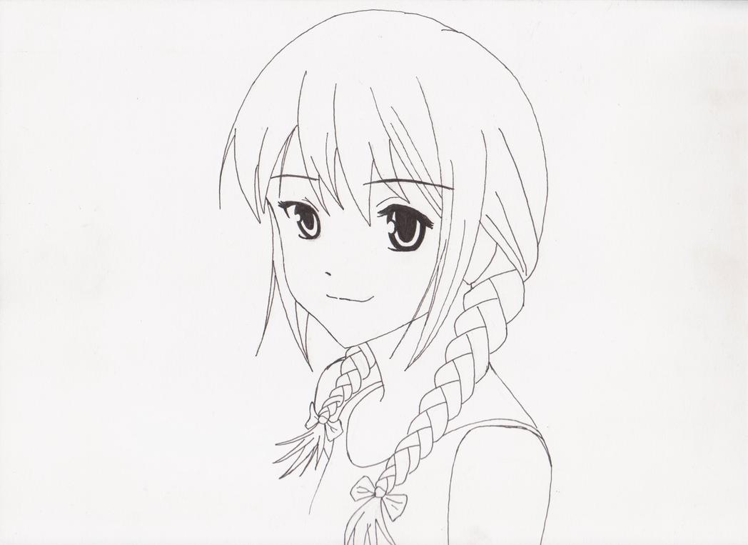 Braided Anime Girl By Mhylands On Deviantart