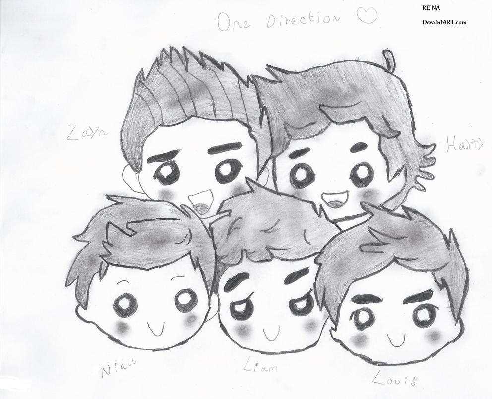 chibi one direction coloring pages - photo#12