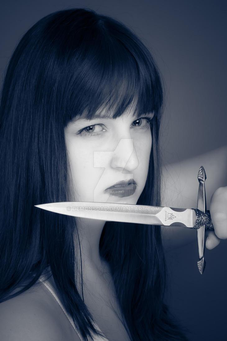 Stephanie with Dagger #1 by demonsDad