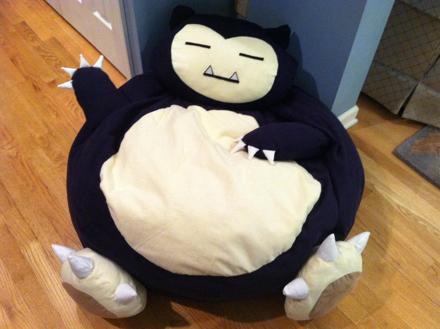 Snorlax Bean Bag Chair By AshTanski