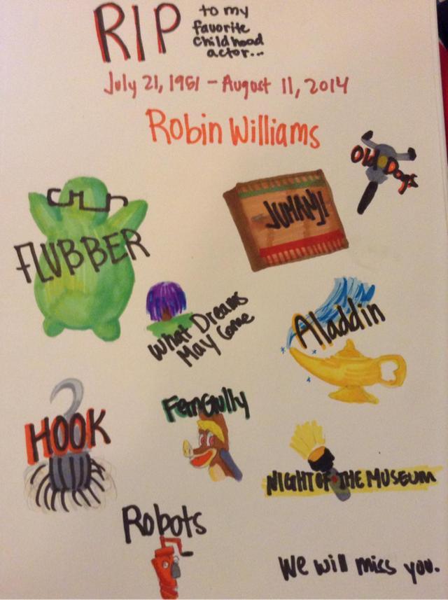 R.I.P. Robin Williams by HUGE-Anime-Freak