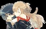 Sword Art Online Render (Kirito - Asuna)
