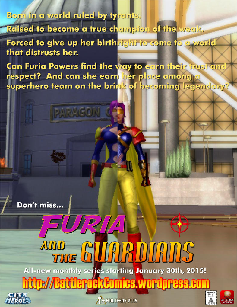 Furia and the Guardians - Fullpage promo by djmatt2