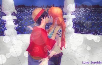Luffy x Nami by Luna-Zorobin