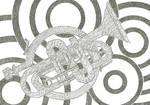 Inktober52: Trumpet by Bettons