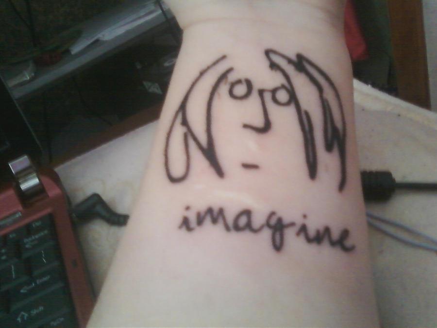 John Lennon Imagine Tattoo By Myromanceischemical On Deviantart