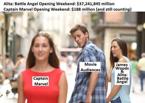 Alita Cap Marvel