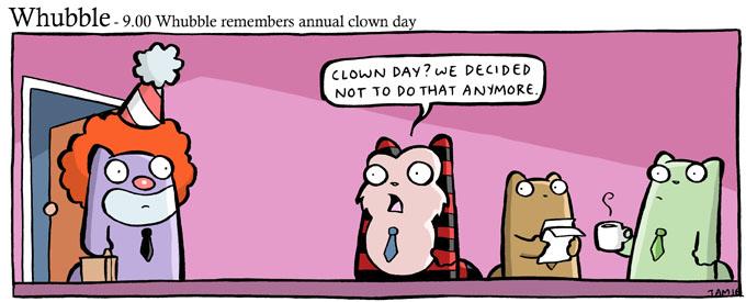 whubble-clown day by icanseeyourmonkey