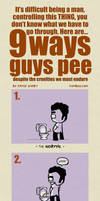 9 ways guys pee by icanseeyourmonkey