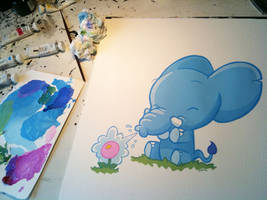 Elephunt painting by icanseeyourmonkey