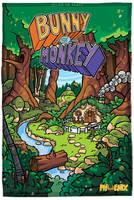 Bunny Versus Monkey by icanseeyourmonkey