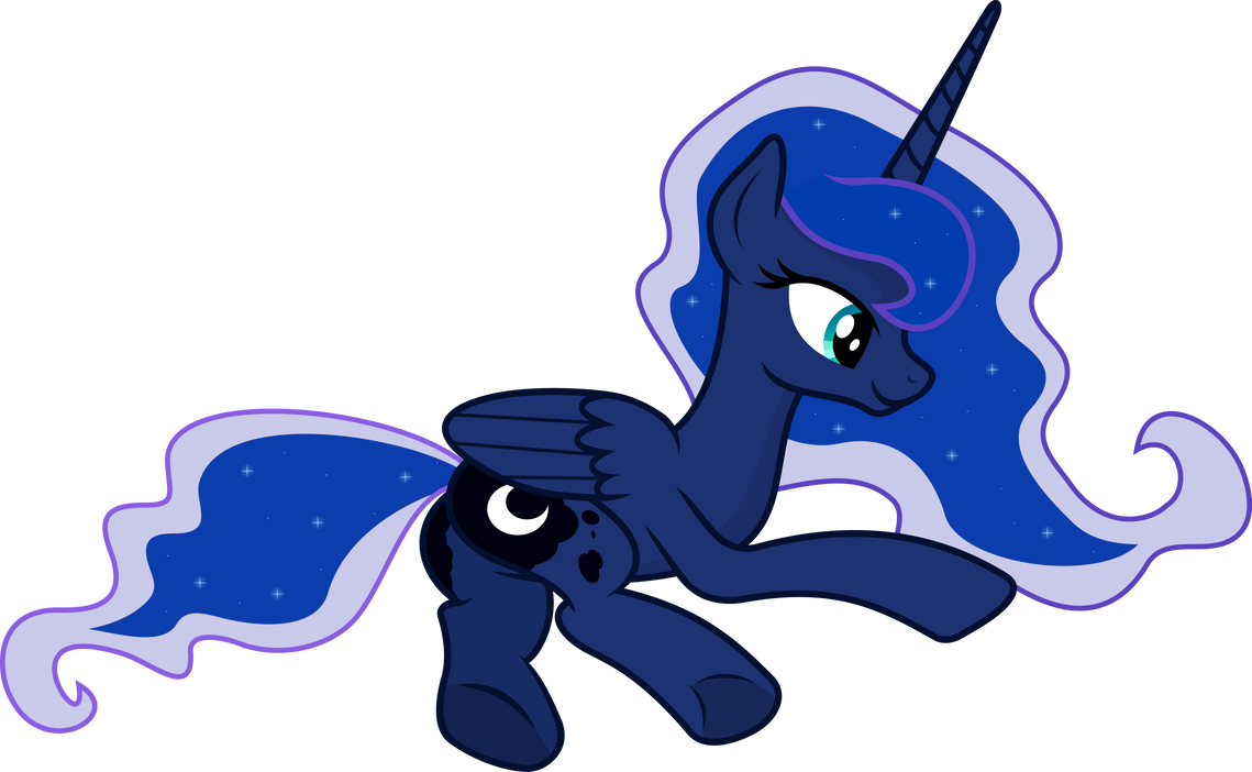Luna Sitting by ThePonyMuseum