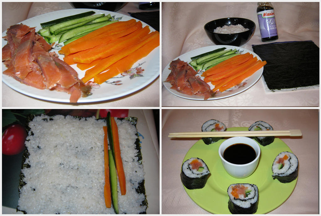 How to make sushi at home pictures