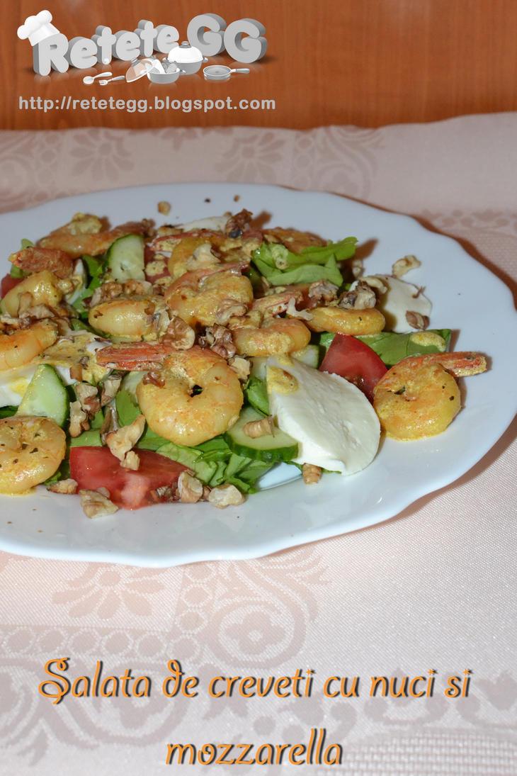 Shrimp salad with walnuts and mozzarella by DanutzaP