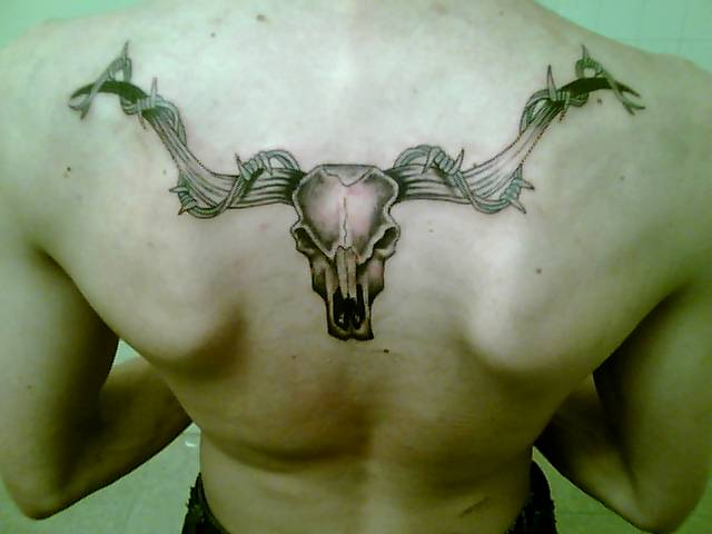 longhorn skull tattoo by kz03jd on deviantart rh deviantart com longhorn skull tattoo texas longhorn skull chest tattoo