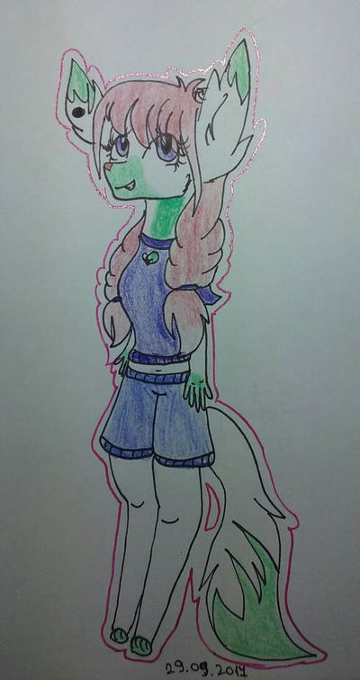 My first Furry OC! - Zarah by Paintcakez