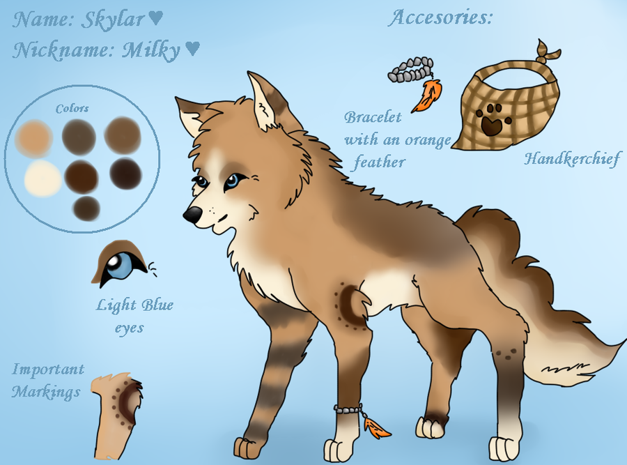 New Fursona Skylar by Skylar-Wolf