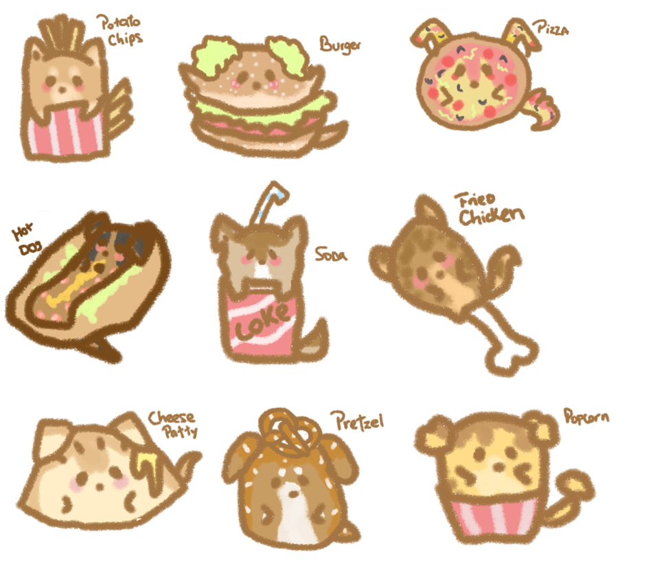 Adoptables 2 - Fast Food by Skylar-Wolf