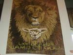 Lion of Judah and Lamb of God pointilism