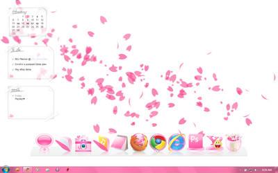 Minimalistic Pink Sakura Desktop