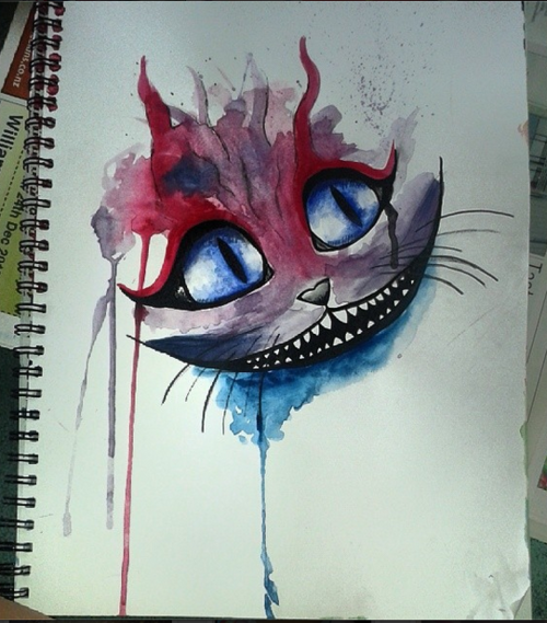 Cheshire cat from alice and wonderland by princesscleodenile