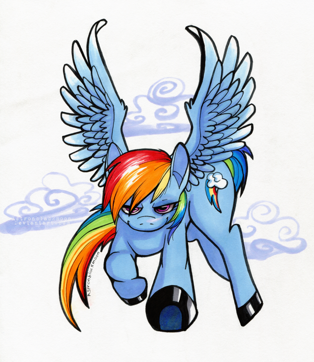 Rainbowdash by Astronblackmoon