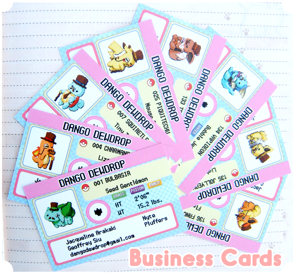 Dango Dewdrop Business Cards by Pluffers