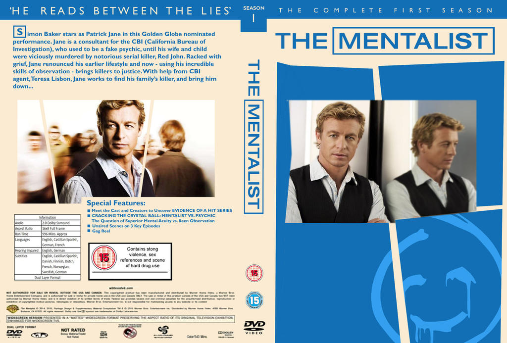 The Mentalist - Season 1 DVD Cover by Ab5tactA7t on DeviantArt
