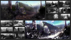 Environment Comps And Summer/Winter forest