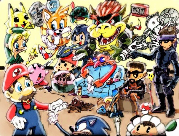 Videogame Collage - The Greats by carlosrox on DeviantArt