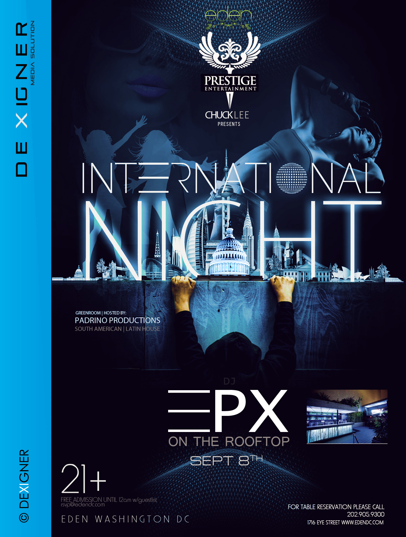 international night club flyer design by dexigner ms